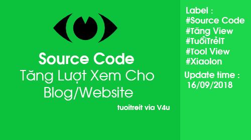 Source Code Tăng Lượt Xem Cho Blog/Website