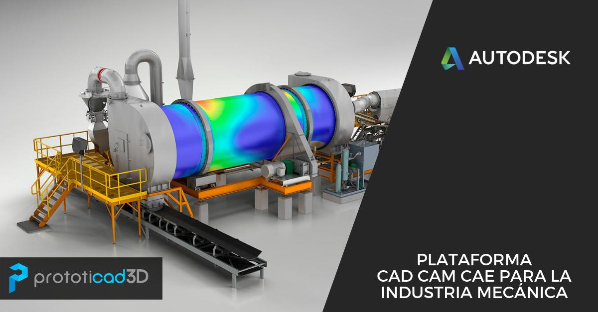 Plataforma CAD CAM CAE de Autodesk para la industria mecánica