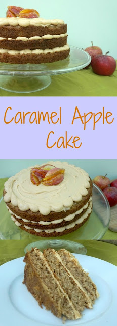 caramel and apple cake