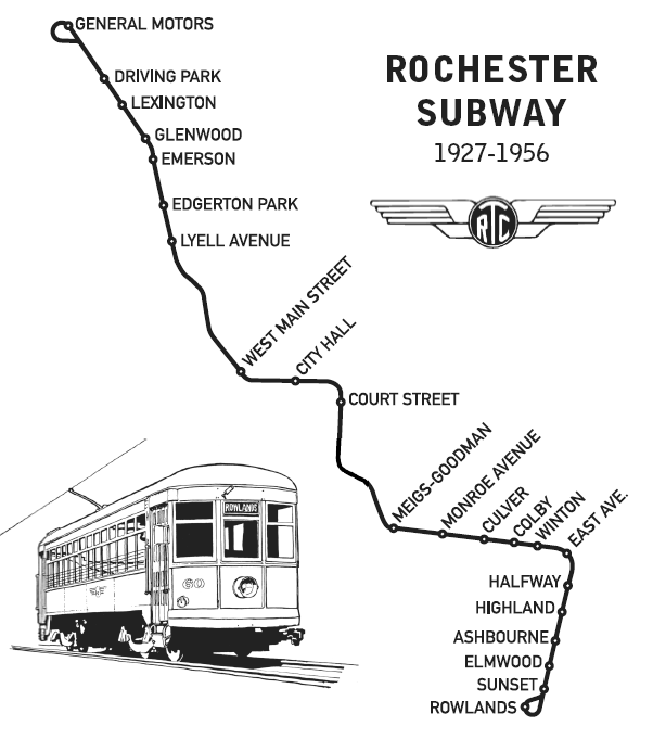 Old Rochester Subway Map Line Service.Rochester Genesee Valley Railroad Museum June 2014