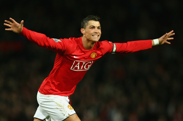 Football Legends the wore No.7 at Manchester United - Cristiano Ronaldo