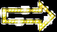 Seta luz amarelo
