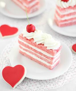 Cherry Chip Sponge Cake
