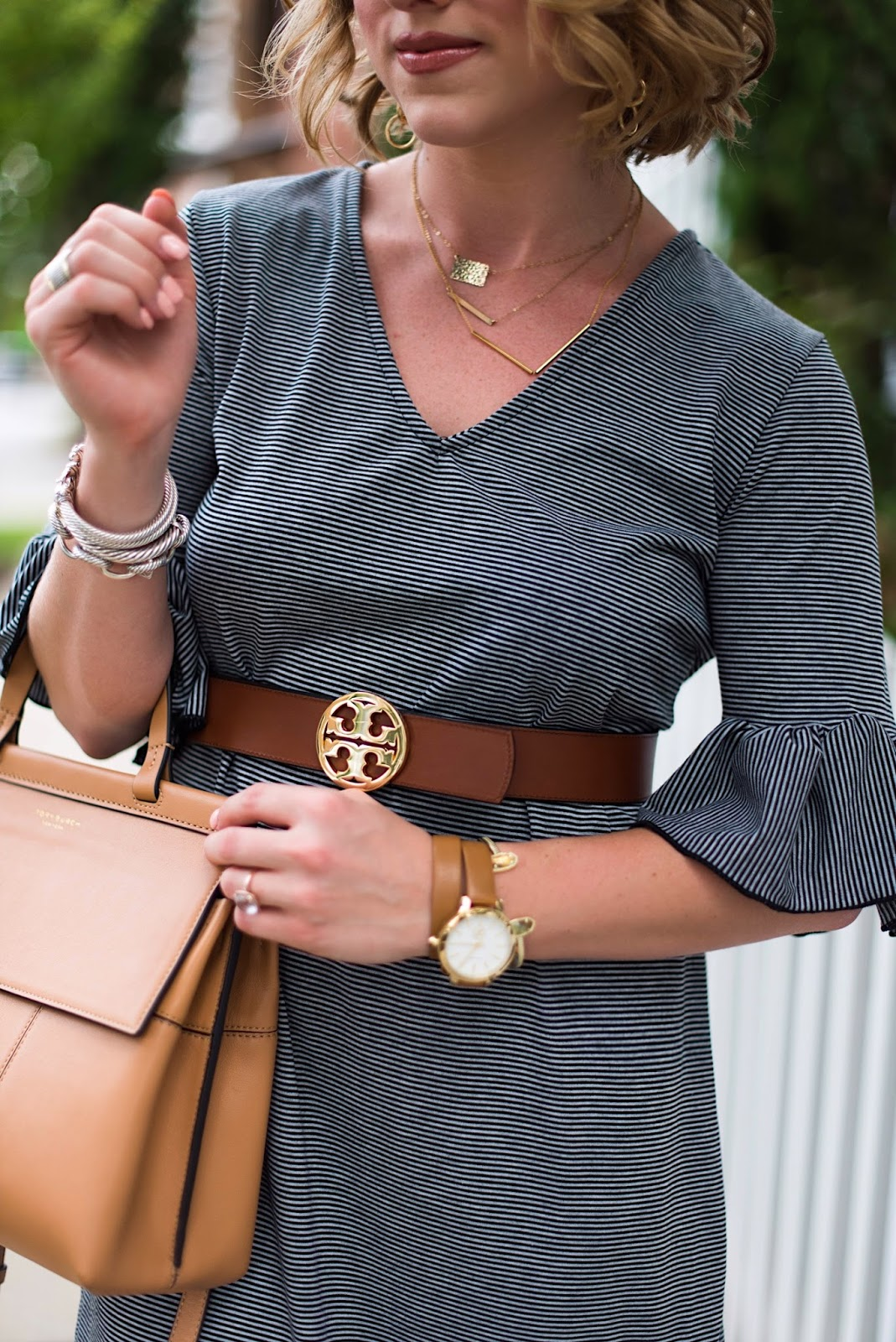 Tory Burch Belt - Click through to see more on Something Delightful Blog!