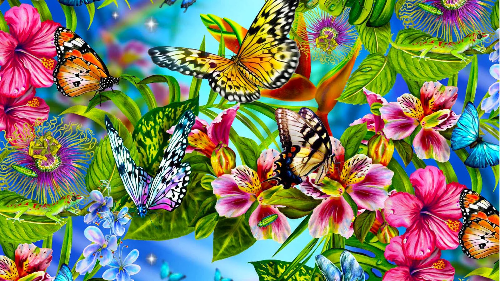 Butterflies Wallpapers Hd Download: HD Butterflies: Pink Butterflies Flying Wallpaper