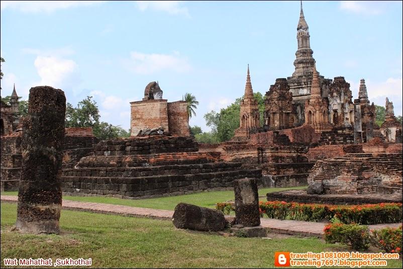 Travel around the world.: Wat Mahathat (Sukhothai Historical Park)