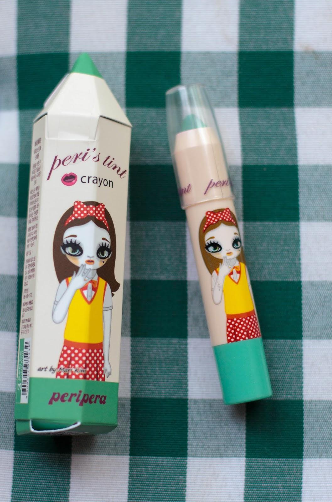 Peripera Peri's Tint Crayon Mint отзыв и свотчи