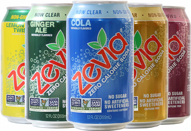 Zevia - naturally sweetened zero-calorie soda