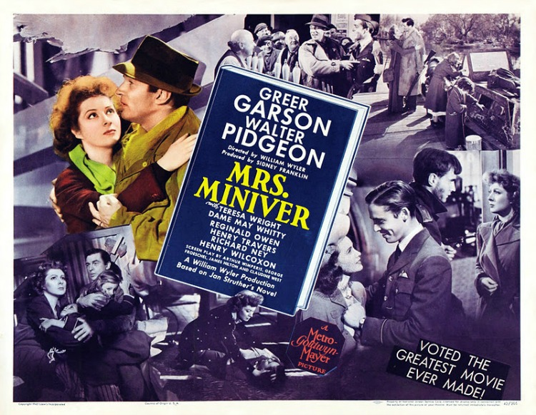 A Vintage Nerd, Movie Madness Monday, Classic Film Blog, Old Hollywood Blog, Mrs Miniver