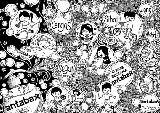 Doodle Art Cergas Bersama Antabax
