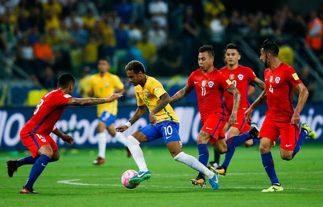 Brasil y Chile en Clasificatorias a Rusia 2018, 10 de octubre de 2017