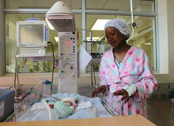 South African Lady Delivers quadruplets