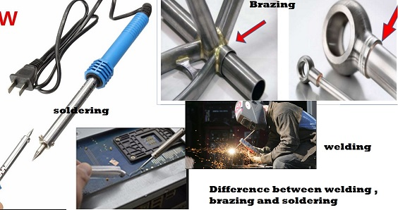 Tabular Difference Between Welding ,Soldering and Brazing