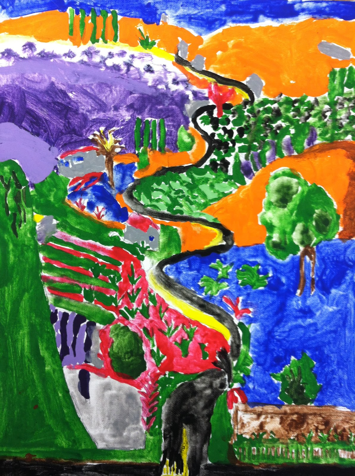 Mrs Wille S Art Room Landscape Paintings In The Style Of