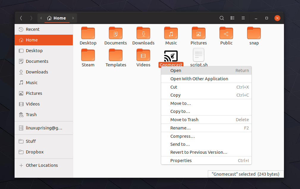 Nautilus Will No Longer Launch Binaries Or Desktop Files - Linux