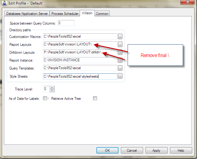 PeopleSoft nVision Issue Resolution: nVision Layout Directory ...
