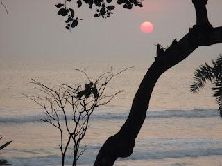 Plage de l'Eco-Village d'Enamino au Gabon