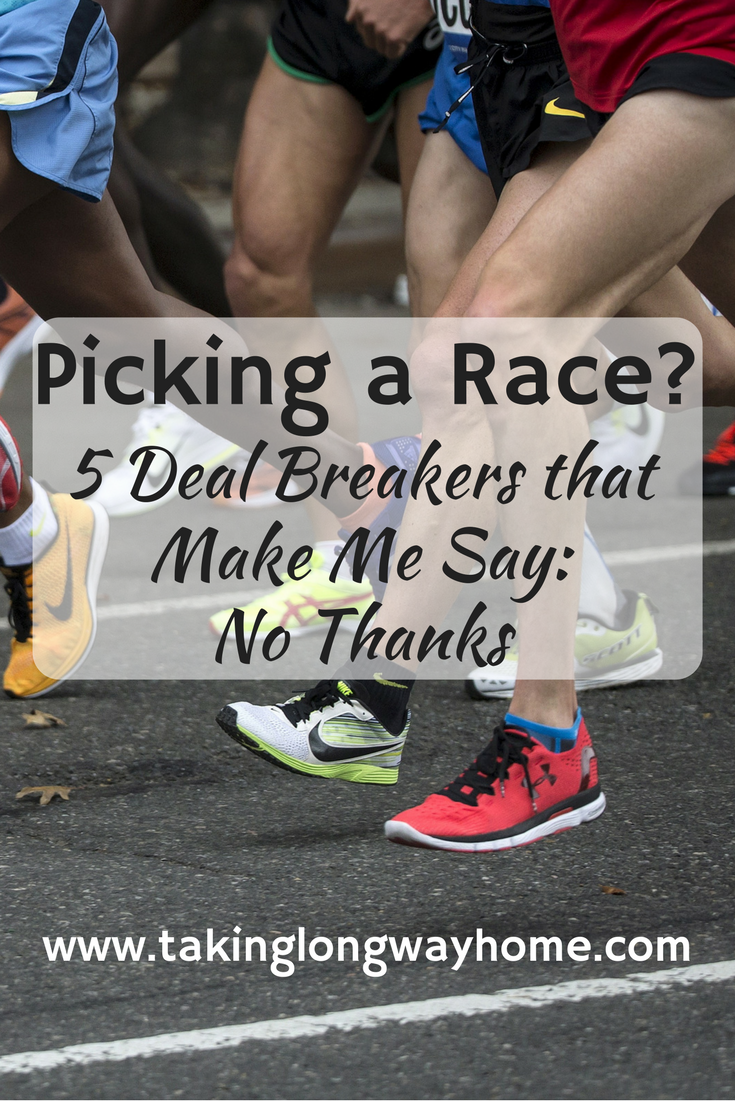 huge selection of b2087 c74d9 Taking the Long Way Home: Picking a Race? 5 Deal Breakers ...