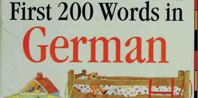 كتاب أول 200 كلمة شائعة باللغة الألمانية بالصور