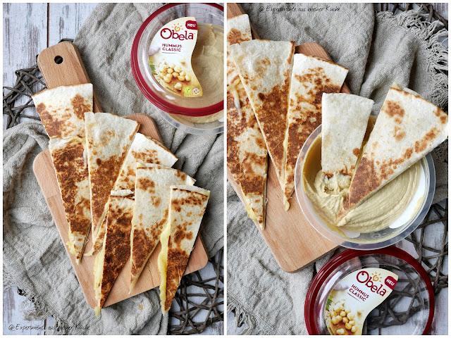 Hummus-Quesadilla | Rezept | Essen