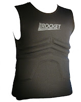 The Rib Rocket Lycra/Neoprene Black Vest, Front