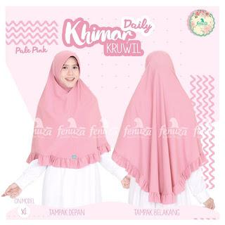 Khimar Daily Fenuza Kruwil Pale Pink