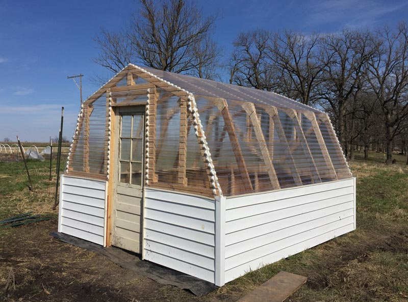 Our New Greenhouse on Barn Greenhouse Plans