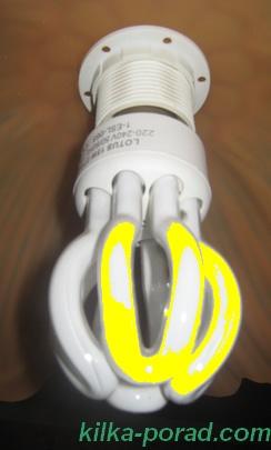 компактна лімінесцентна лампа може мигати, якщо вимикач розриває нуль, а не фазу