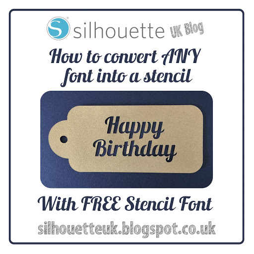 Tutorial by Nadine Muir on how to convert any font into a stencil within Silhouette Studio.  Includes a free stencil font for download created from the Lobster font