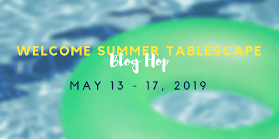 My Thrift Store Addiction summer tablescape hop