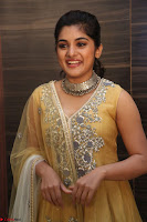 Nivetha Thamos in bright yellow dress at Ninnu Kori pre release function ~  Exclusive (89).JPG