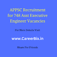 APPSC Recruitment for 748 Asst Executive Engineer Vacancies