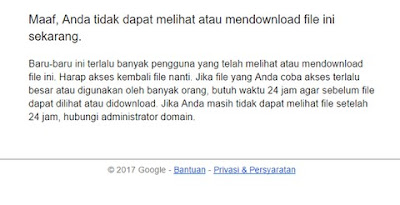 kuota download google drive terlampaui