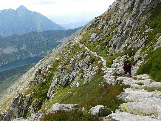 Szlak na południowych stokach Koziego Muru.