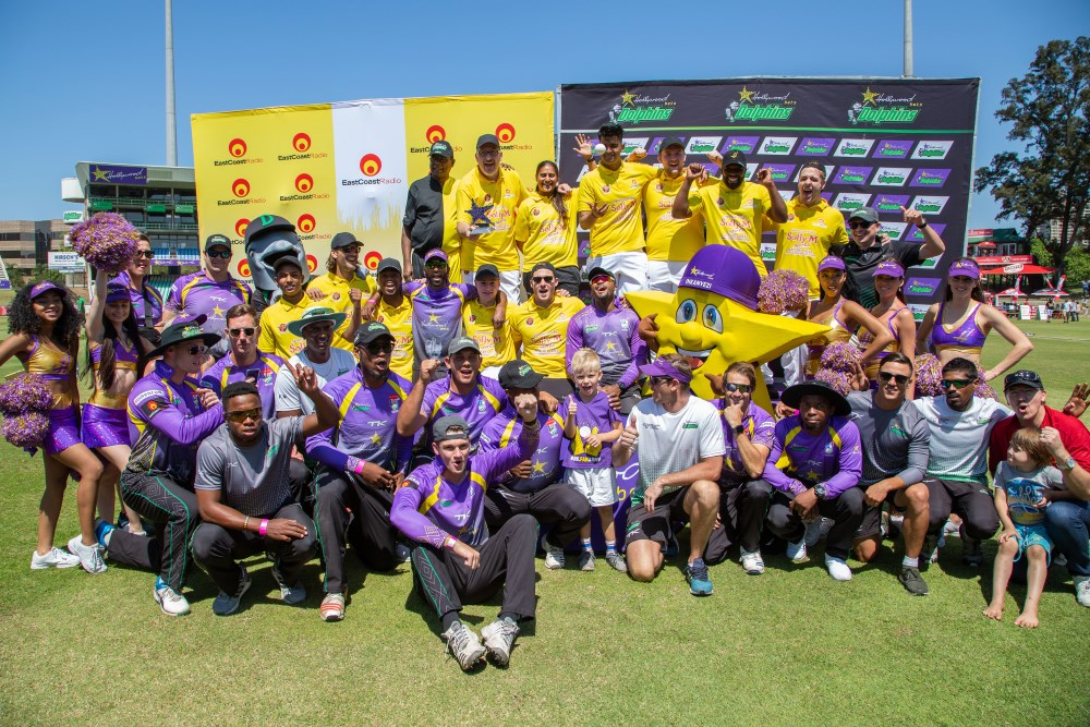 East Coast Radio and Hollywoodbets Dolphins - The Greatest Showdown - Team photo