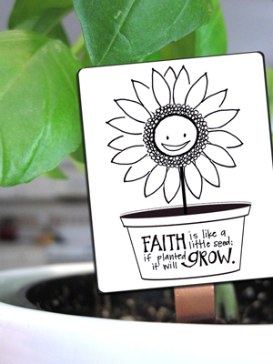 This is such a cute project for familes, Activity Days or Young Womens! Faith seed cards. Just color them, laminate, fix to a popsicle stick and plant seeds to remind you that our faith must be nutrtured. A Year oif FHE.net