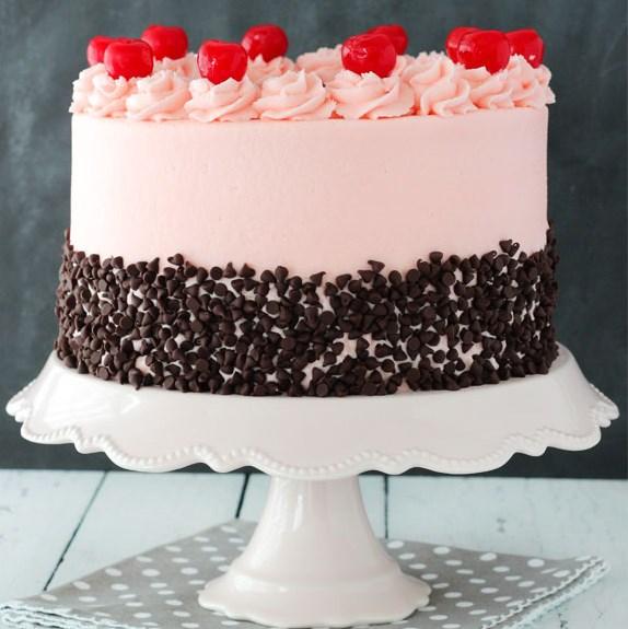 CHERRY CHOCOLATE CHIP CAKE #chocolatecake #cakerecipe