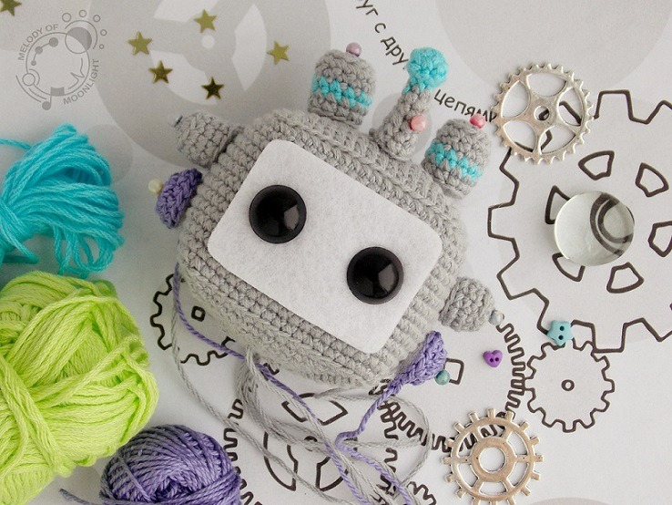 Кукла робот амигуруми сборка игрушки