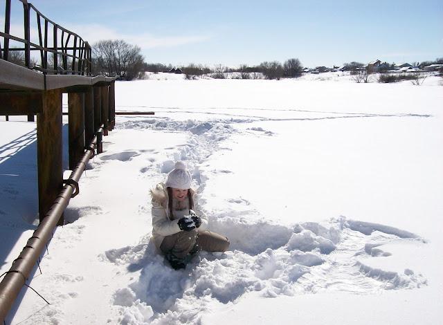 """мгновения весны...""""зимний"""" март. Озеро покрыто льдом и снегом..."""