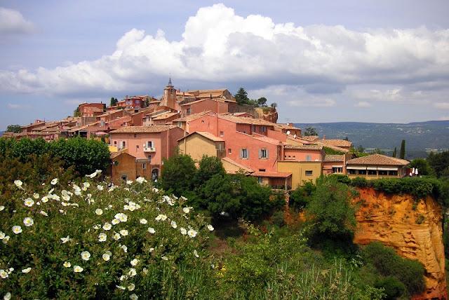 Cidade de Roussillon na França