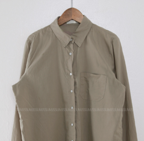 Curved Hem Button-Down Shirt