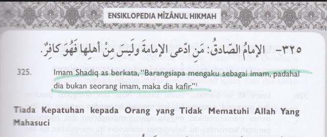 Syiah Berkeyakinan Imam Selain Milik Syiah Kafir