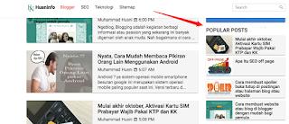 Memasang widget blogger