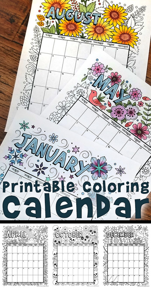 Musings of an Average Mom: 2018 calendars to color