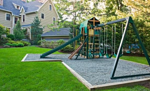 Rear garden as a playground children