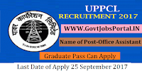 Uttar Pradesh Power Corporation Limited Recruitment 2017– 30 Office Assistant