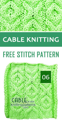 Cable Knitting Free Stitch Pattern 06
