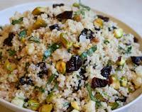 Couscous com Cerejas Desidratadas e Pistaches (vegana)