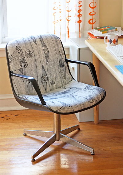 Reupholstered Steelcase chair project  Design Inspiration