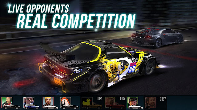 Tampilan Game Racing Rivals Android